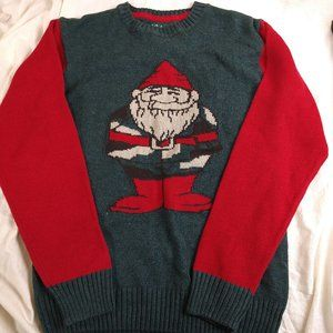 Ugly Christmas Sweater Old Elf Heavy Knit Holiday
